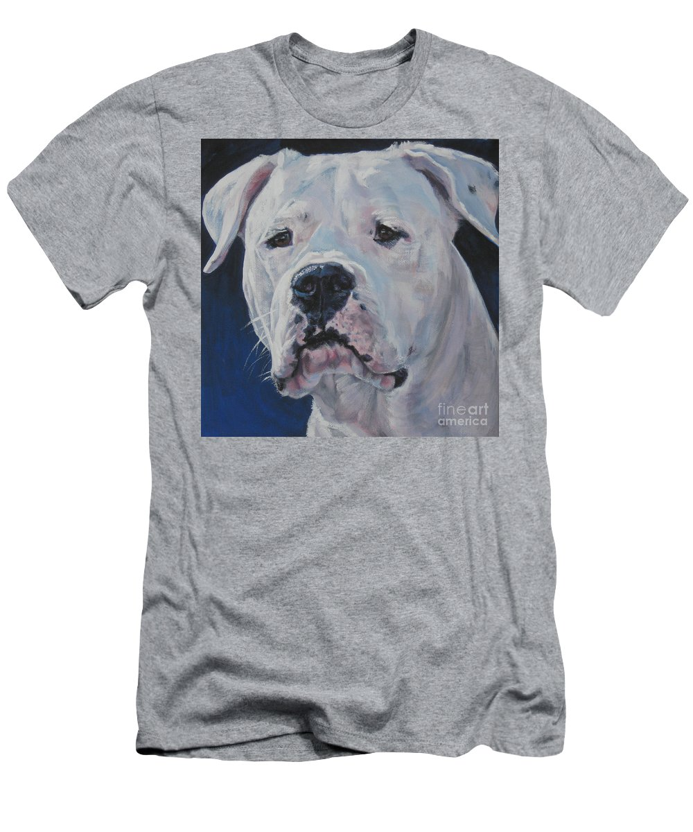 Dogo Argentino Men's T-Shirt (Athletic Fit) featuring the painting Dogo Argentino by Lee Ann Shepard