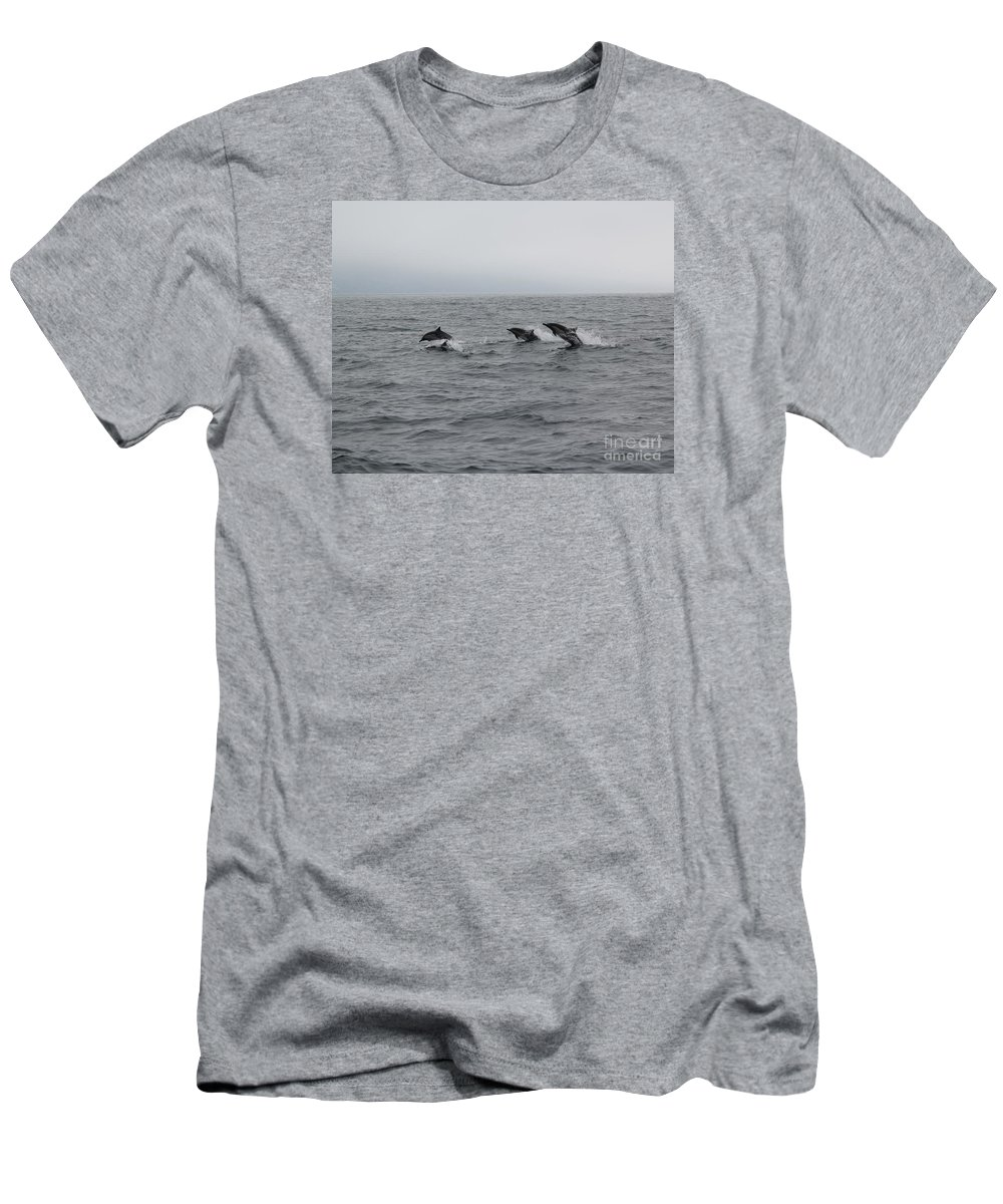 Dolphin Men's T-Shirt (Athletic Fit) featuring the photograph Dolphin Joy 2 by Marta Robin Gaughen