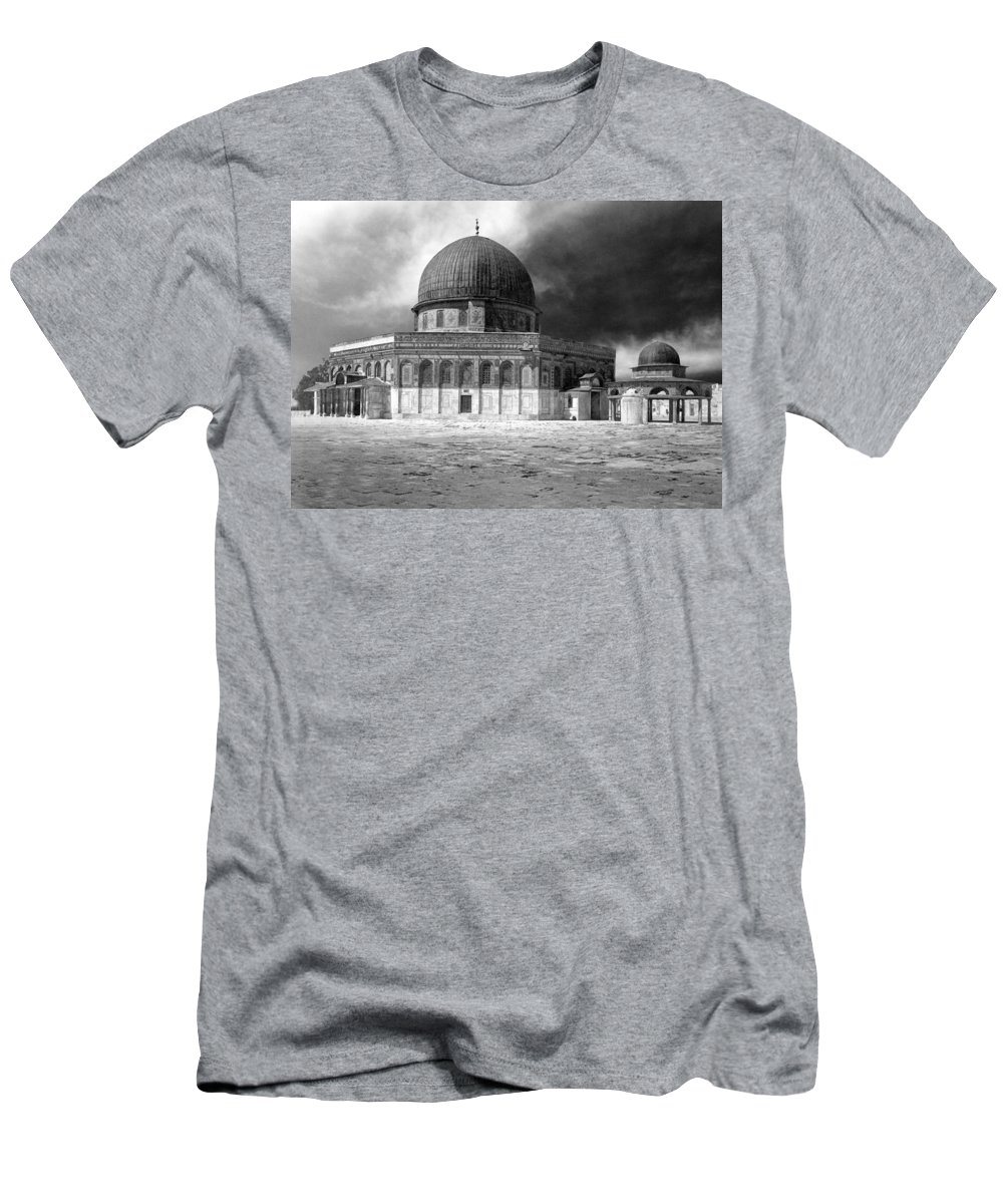 Jerusalem Men's T-Shirt (Athletic Fit) featuring the photograph Dome Of The Rock - Jerusalem by Munir Alawi