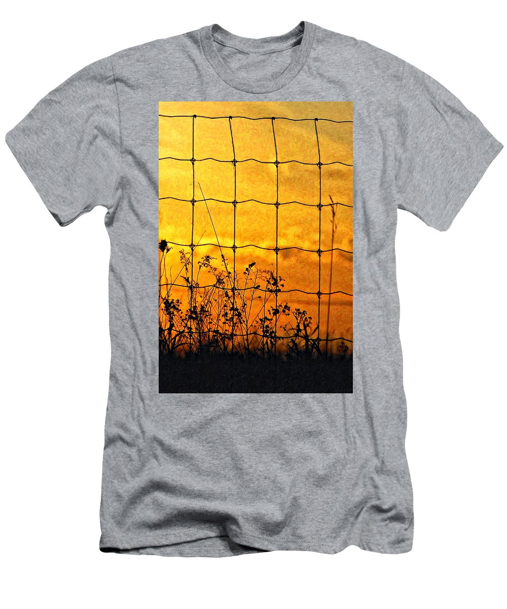 Weeds Men's T-Shirt (Athletic Fit) featuring the photograph Don't Fence Me In by Steve Harrington