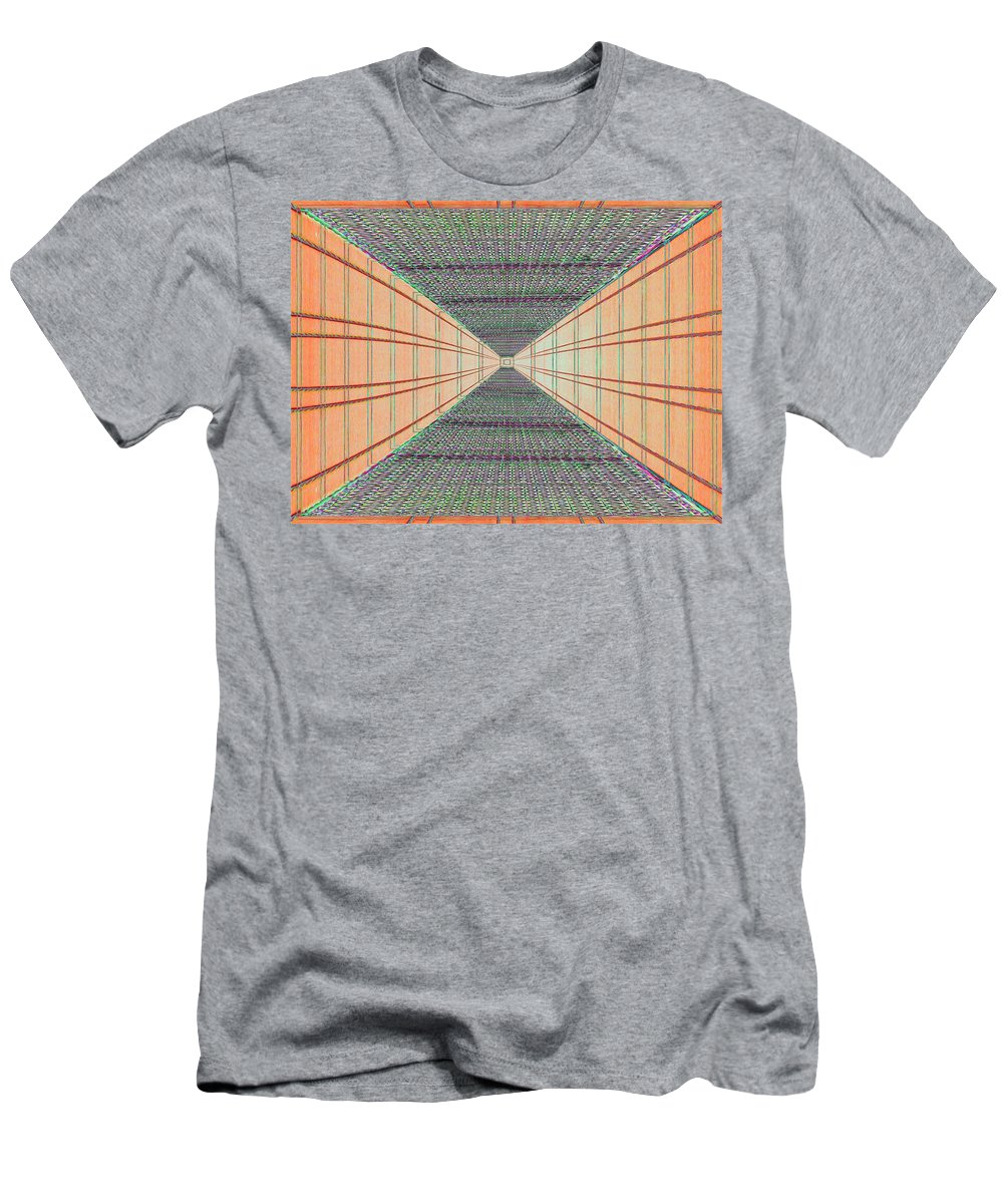 Achitecture Men's T-Shirt (Athletic Fit) featuring the photograph Dont Look Down by Tim Allen