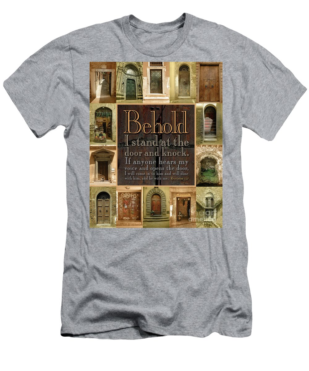 Doors Men's T-Shirt (Athletic Fit) featuring the photograph Doors by Martin Stevers