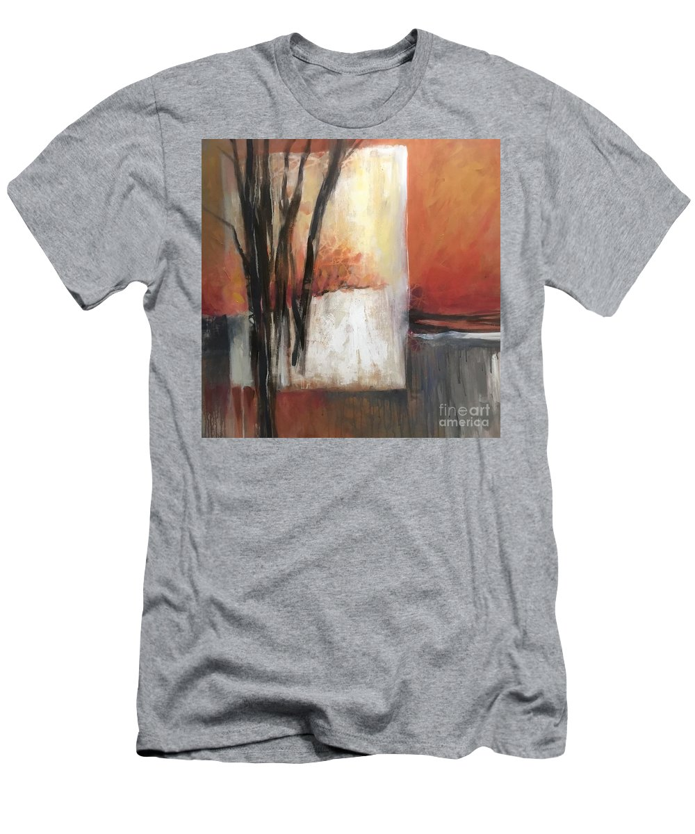Abstract. Modern Men's T-Shirt (Athletic Fit) featuring the painting Doorway To Winter by Lorraine Danzo