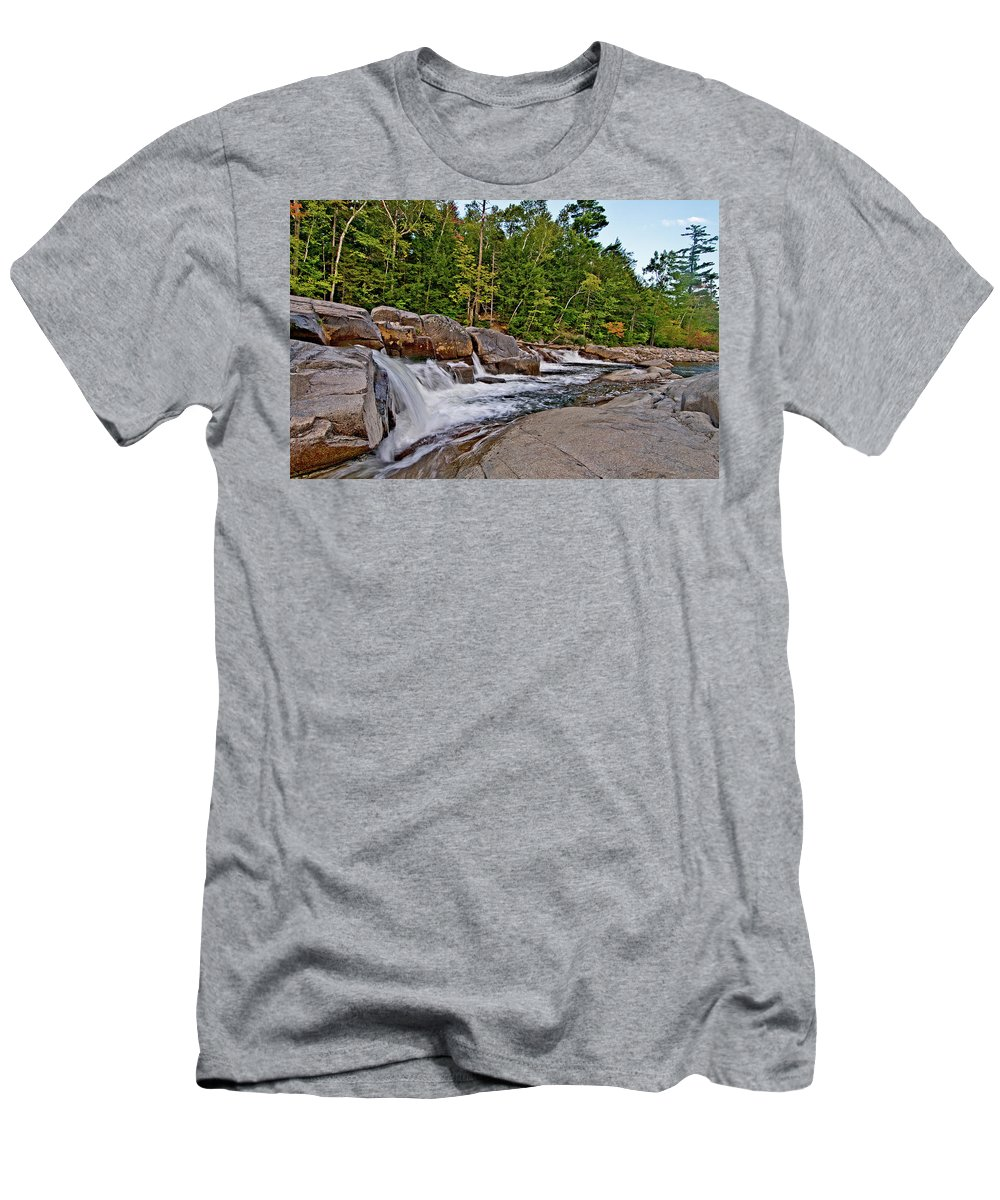 lower Falls Men's T-Shirt (Athletic Fit) featuring the photograph Downhill From Here by Paul Mangold