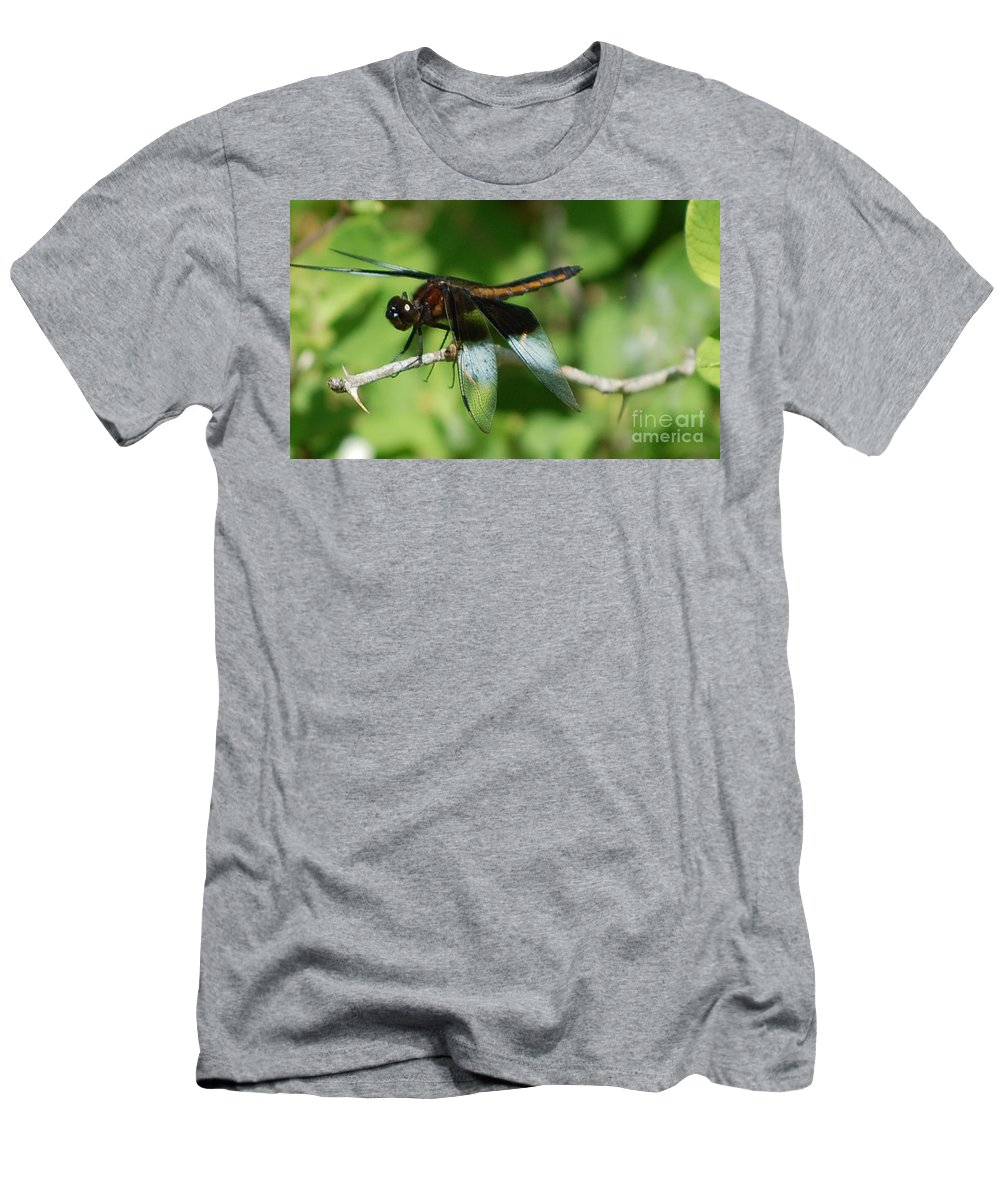 Digitall Photo Men's T-Shirt (Athletic Fit) featuring the photograph Dragon Fly by David Lane