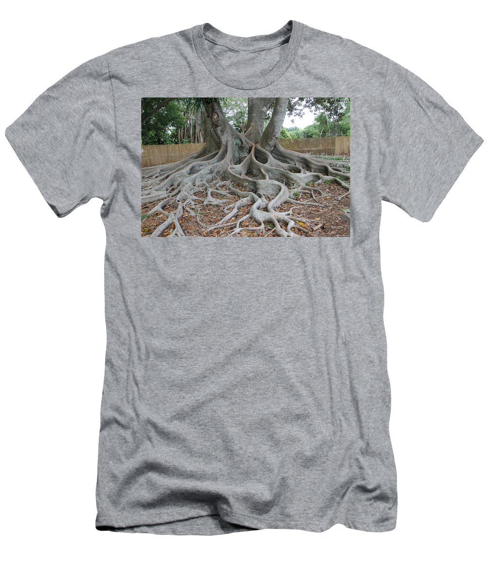 Tree Men's T-Shirt (Athletic Fit) featuring the photograph Dragonfeet by Laura Martin