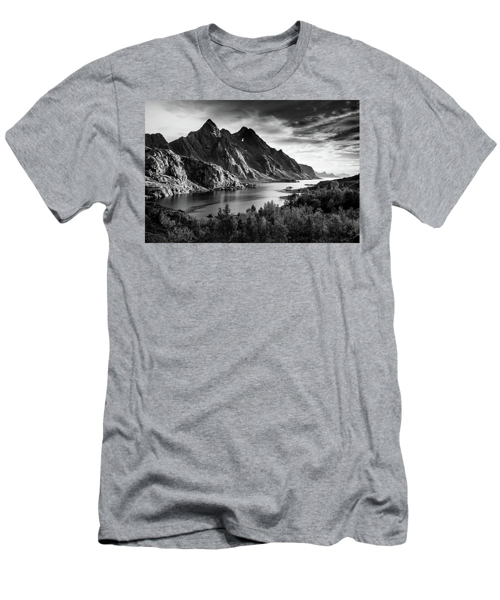 Dramatic Men's T-Shirt (Athletic Fit) featuring the photograph Dramatic Lofoten by Alex Conu