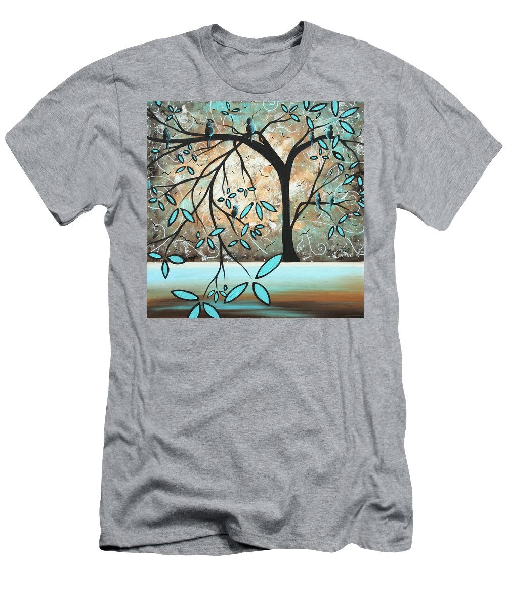 Wall Men's T-Shirt (Athletic Fit) featuring the painting Dream State I By Madart by Megan Duncanson