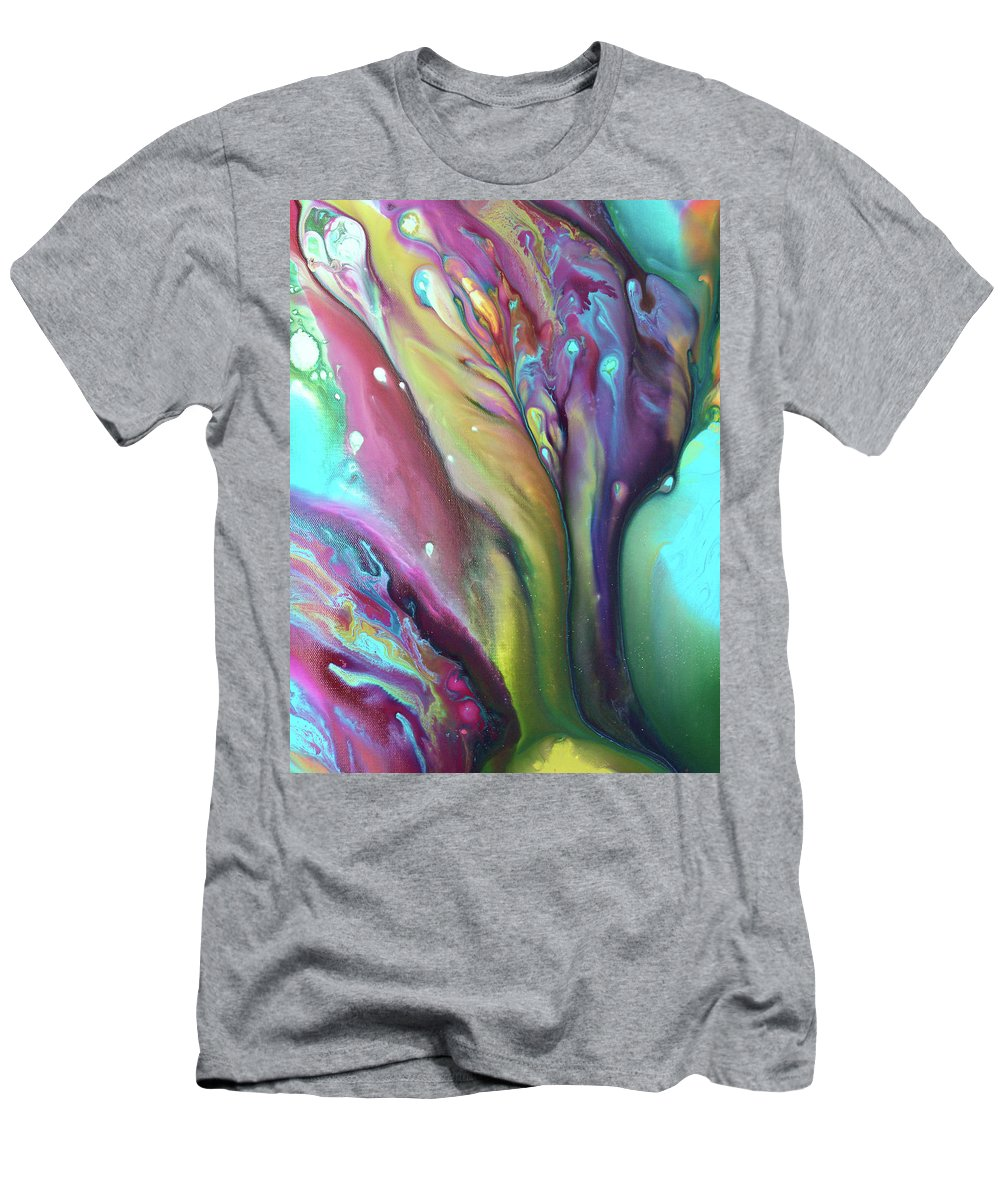 Men's T-Shirt (Athletic Fit) featuring the painting Dreaming Of Tranquilty by Destiny Womack