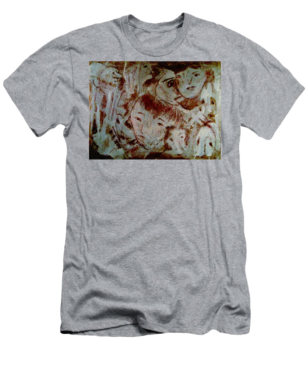 Expressionism Men's T-Shirt (Athletic Fit) featuring the mixed media Dreams by Natalie Holland