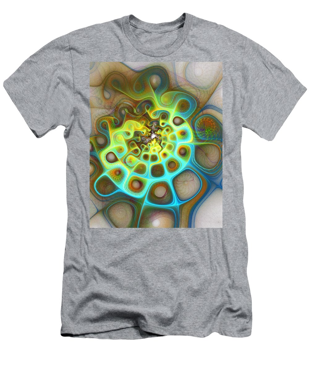 Digital Art Men's T-Shirt (Athletic Fit) featuring the digital art Dreamscapes by Amanda Moore
