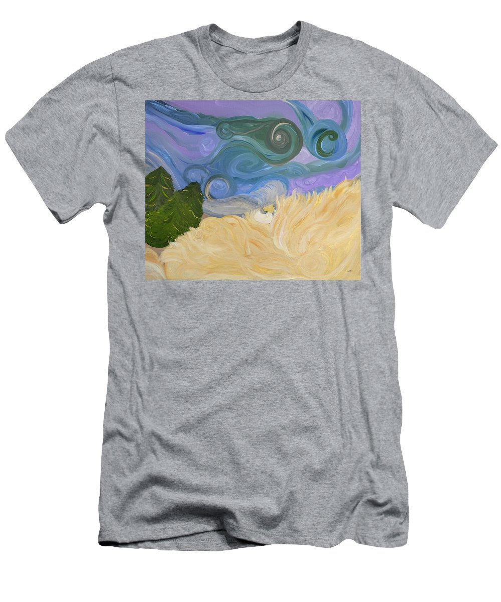 Abstract Men's T-Shirt (Athletic Fit) featuring the painting Dreamweaving by Sara Credito