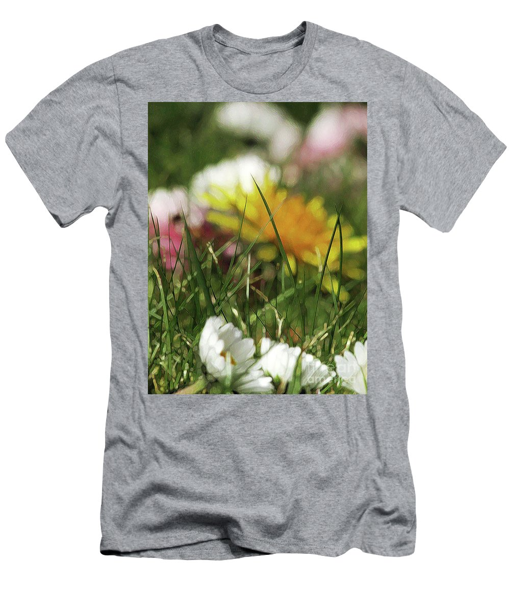 Grass Men's T-Shirt (Athletic Fit) featuring the photograph Dreamy Spring by Kim Tran