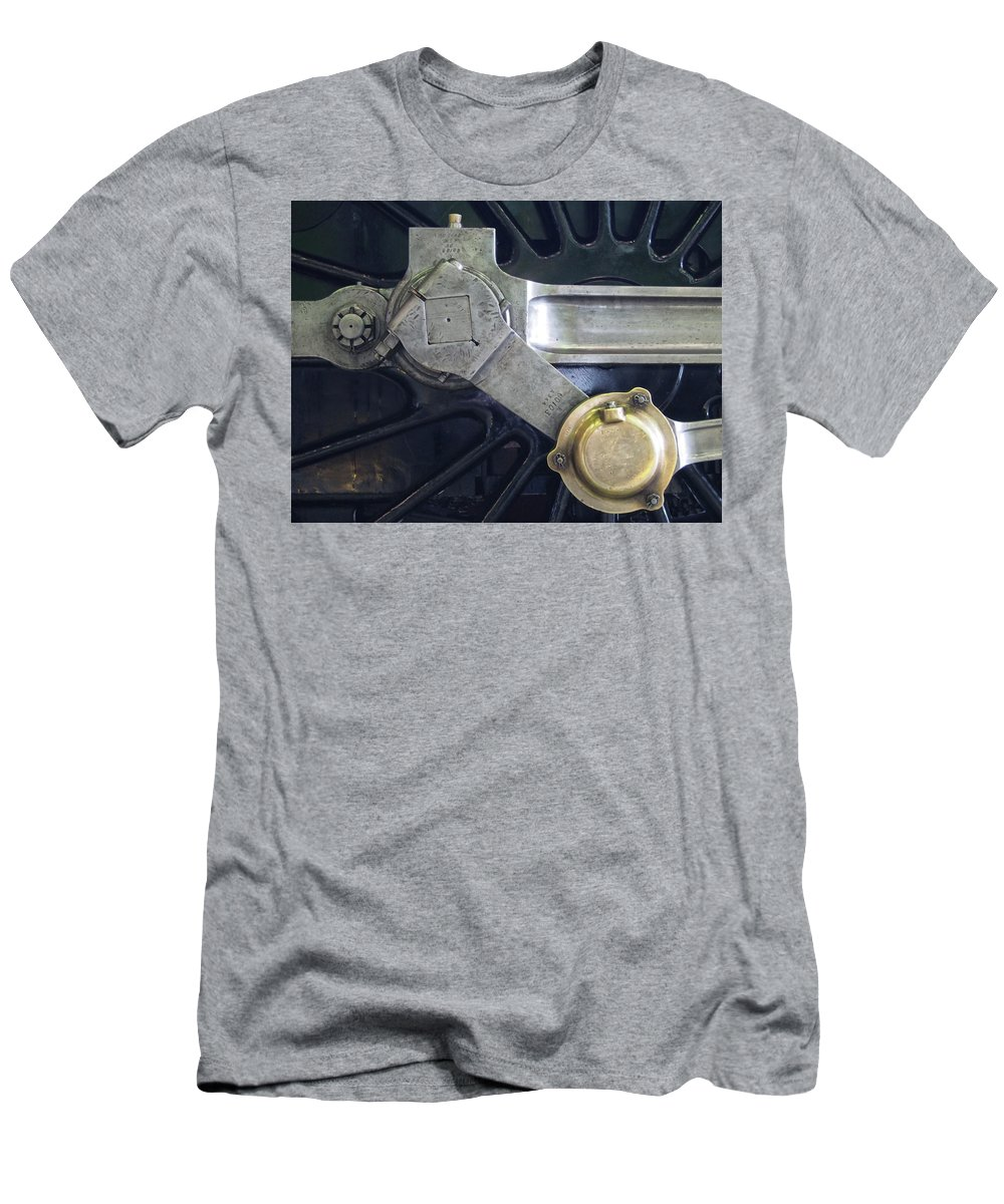 Locomotive Men's T-Shirt (Athletic Fit) featuring the photograph Pacific Locomotive - Drive by Philip Openshaw