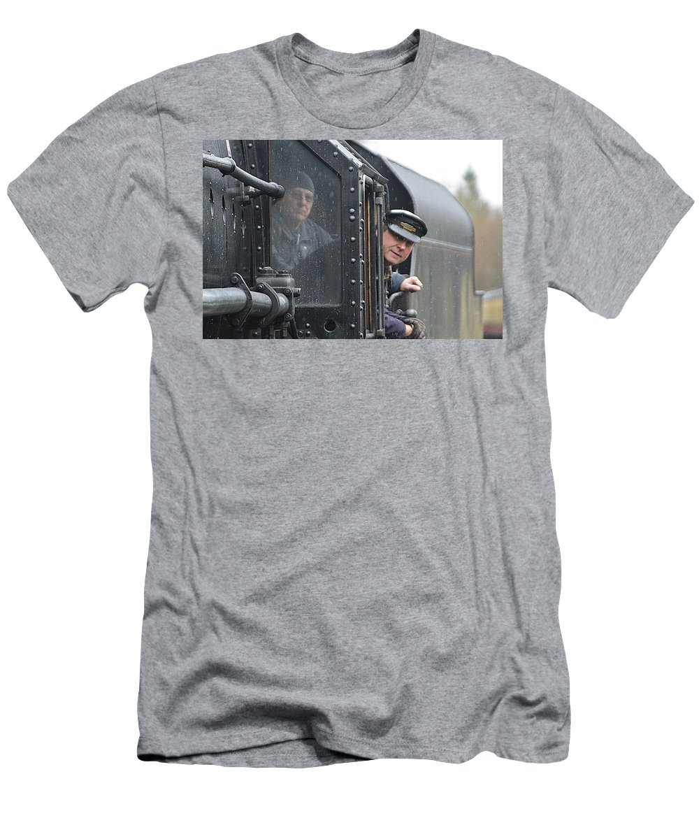 Driver Men's T-Shirt (Athletic Fit) featuring the photograph Driver by Andy Thompson