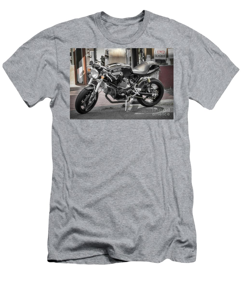 Ducati Sport 1000 Men's T-Shirt (Athletic Fit) featuring the photograph Ducati Sport 1000 by Mitch Shindelbower