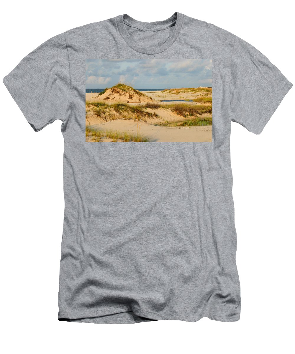 Beach Men's T-Shirt (Athletic Fit) featuring the photograph Dunes At Gulf Shore by Kristin Elmquist