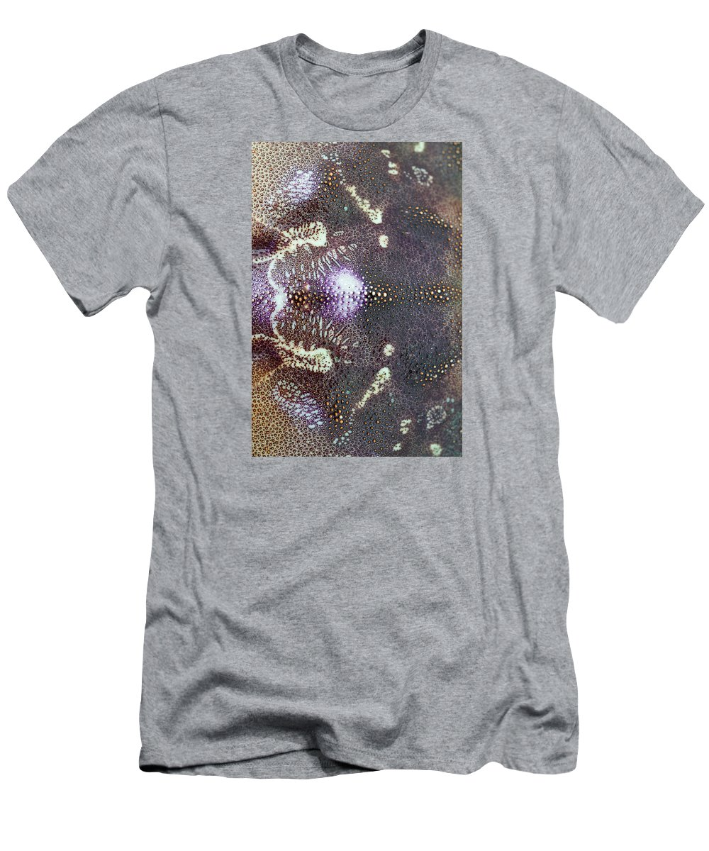 Absract Men's T-Shirt (Athletic Fit) featuring the photograph Dungeness Crab Shell by Robert Potts