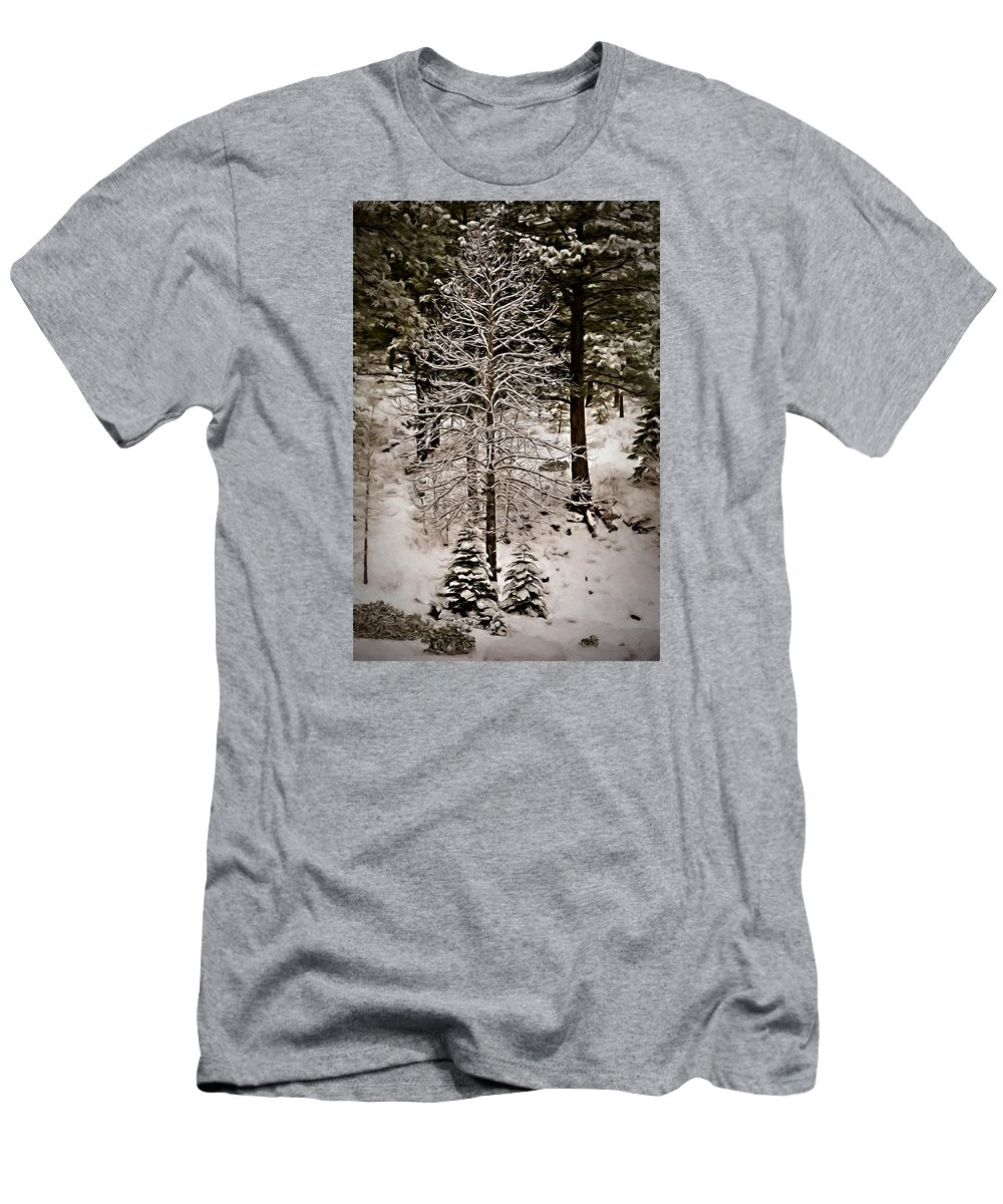 Beautiful Men's T-Shirt (Athletic Fit) featuring the photograph Dusk In The Sierras by Maria Coulson