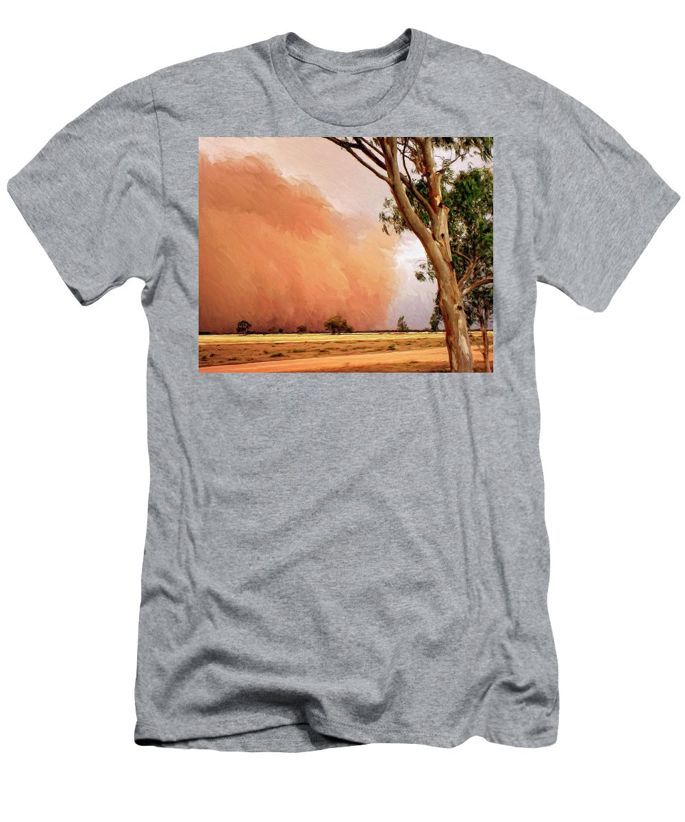 Dust Men's T-Shirt (Athletic Fit) featuring the painting Dust Storm by Dominic Piperata