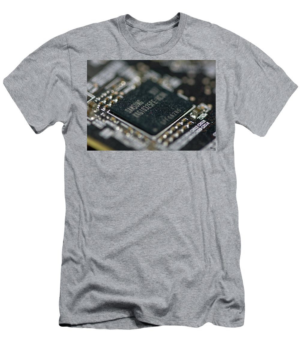 Dusty Men's T-Shirt (Athletic Fit) featuring the photograph Dusty Motherboard by Brian Kenney