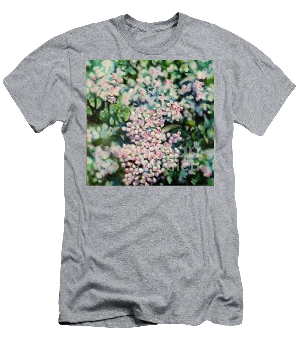 Lilacs T-Shirt featuring the painting Dwarf Korean Lilac by Karen Sloan