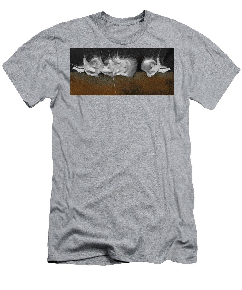 Men's T-Shirt (Athletic Fit) featuring the digital art EAR by Ramon Avila
