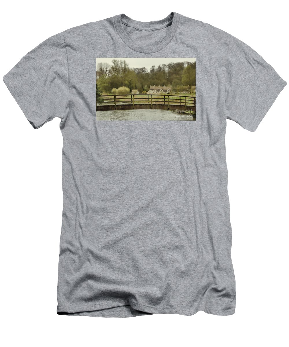 Arlington Row Men's T-Shirt (Athletic Fit) featuring the photograph Early Spring In The Counties by Jasna Buncic