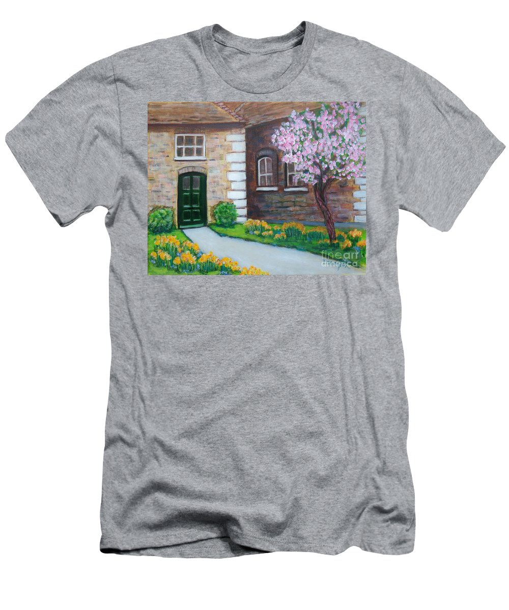 Spring T-Shirt featuring the painting Early Spring by Laurie Morgan