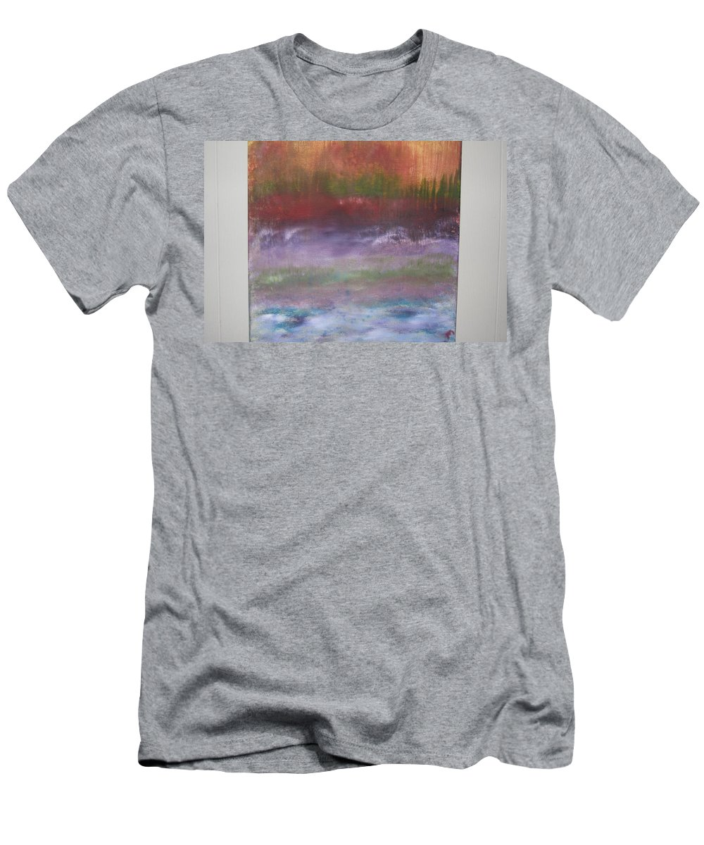 Abstract Earth Men's T-Shirt (Athletic Fit) featuring the painting Earth Day by Michael Messina