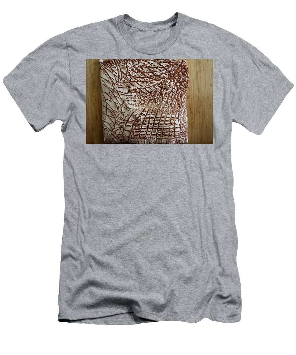 Jesus Men's T-Shirt (Athletic Fit) featuring the ceramic art Earths Yield - Tile by Gloria Ssali