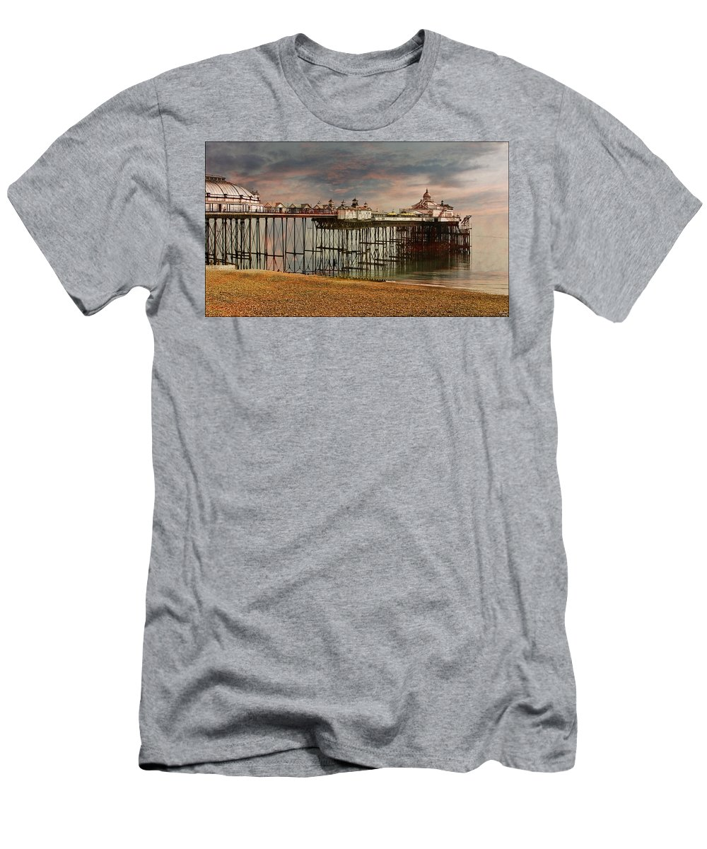 Eastbourne Men's T-Shirt (Athletic Fit) featuring the photograph Eastbourne Pier by Chris Lord