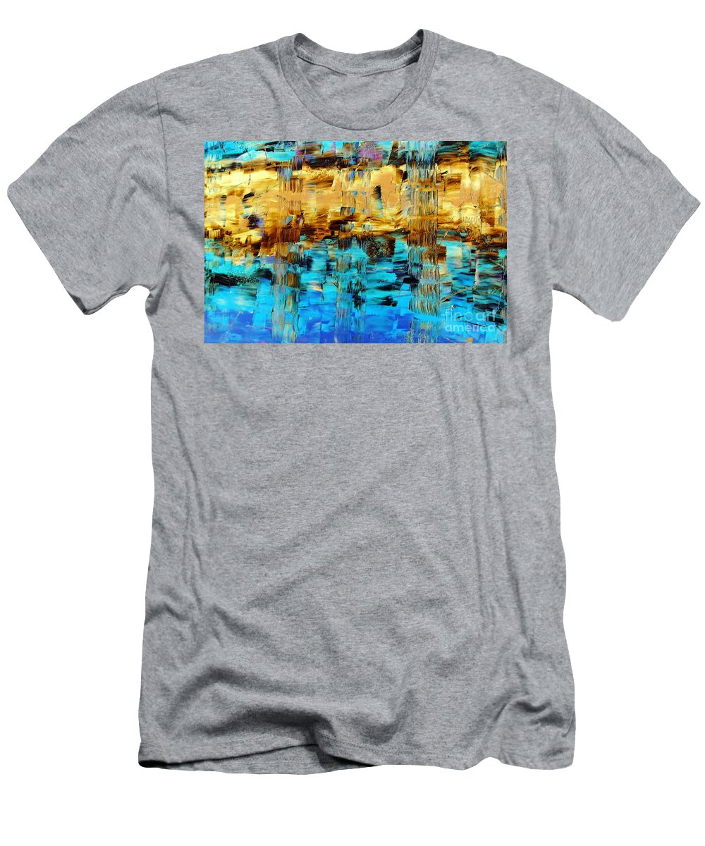 Echos Of Silence Men's T-Shirt (Athletic Fit) featuring the painting Echos Of Silence by Dawn Hough Sebaugh