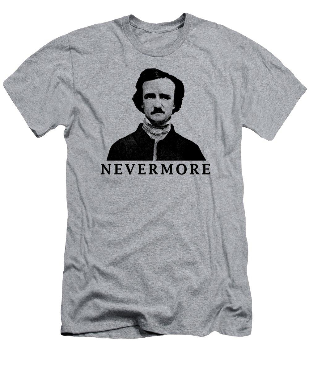 94bd0bb44 Edgar Allan Poe Men's T-Shirt (Athletic Fit) featuring the digital art Edgar