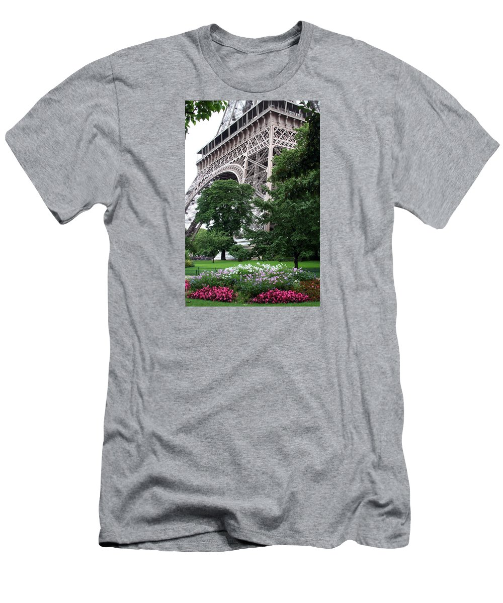 Eiffel Men's T-Shirt (Athletic Fit) featuring the photograph Eiffel Tower Garden by Margie Wildblood