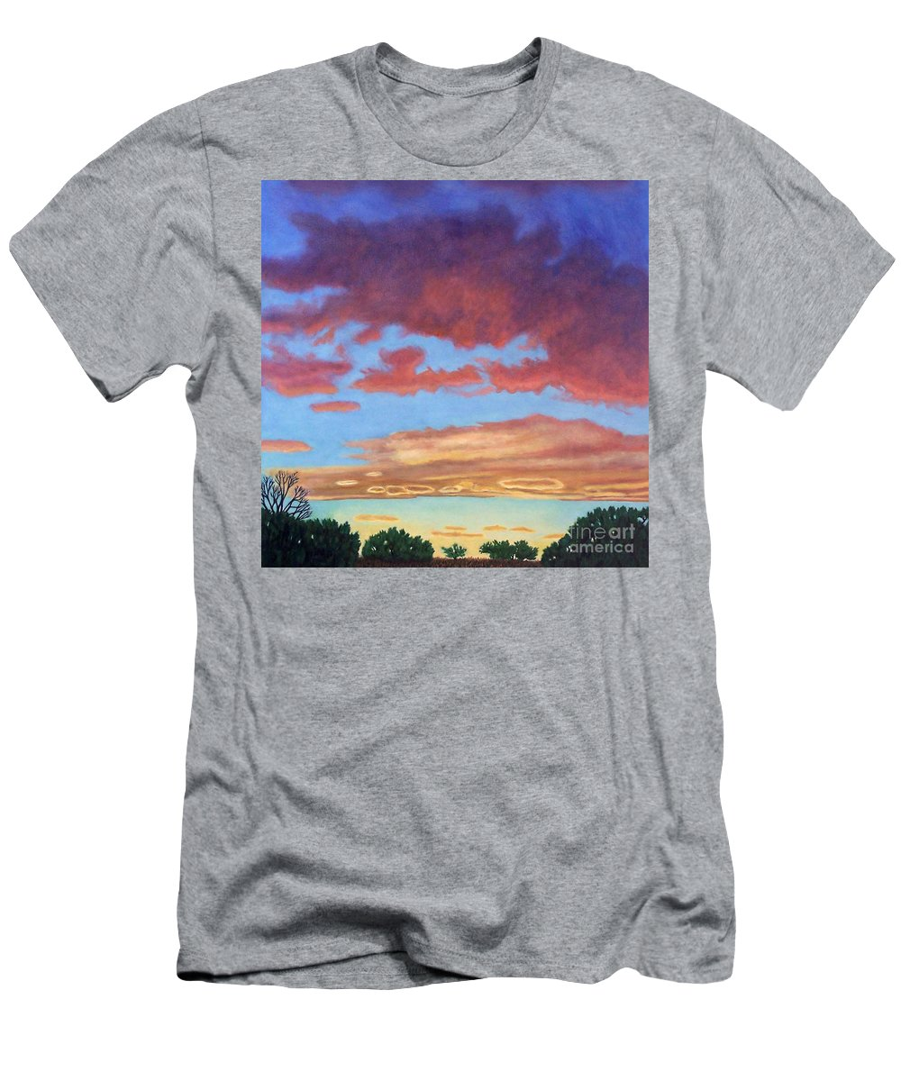 Sunset Men's T-Shirt (Athletic Fit) featuring the painting El Dorado Sunset by Brian Commerford