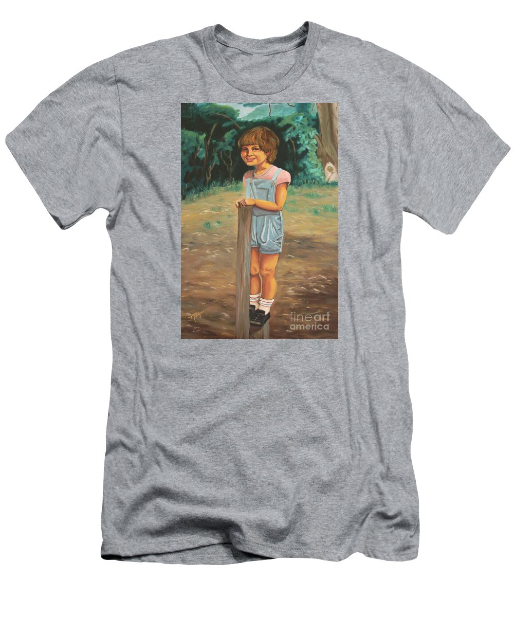 Portraits Men's T-Shirt (Athletic Fit) featuring the painting Elbio by Milagros Palmieri