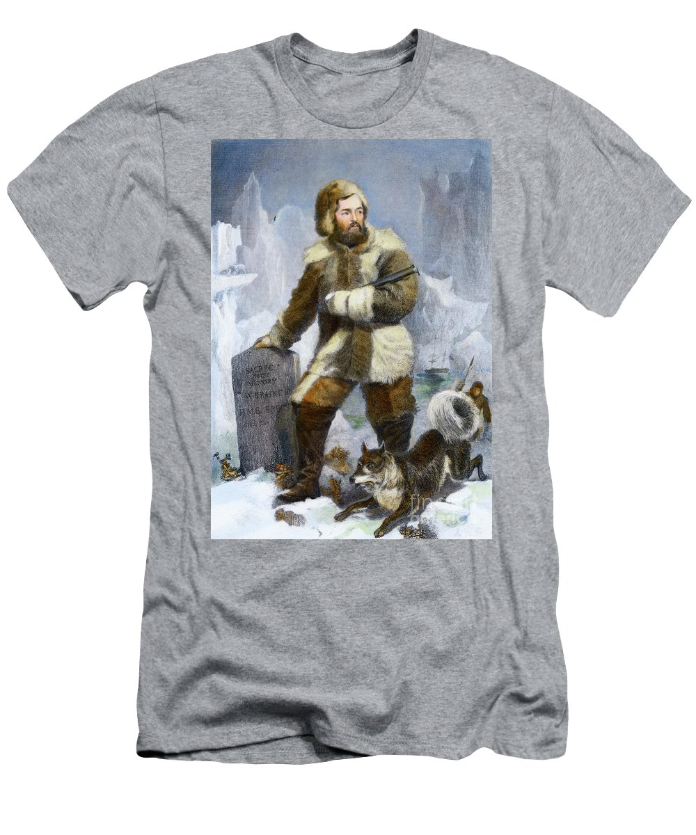 19th Century Men's T-Shirt (Athletic Fit) featuring the drawing Elisha Kent Kane, 1820-1857 by Granger
