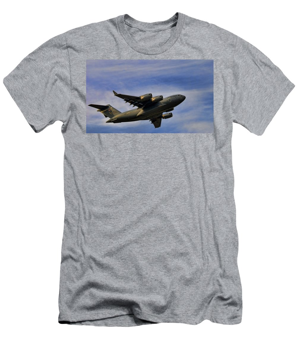 Elmendorf Men's T-Shirt (Athletic Fit) featuring the photograph Elmendorf Third Wing by Steven Richardson