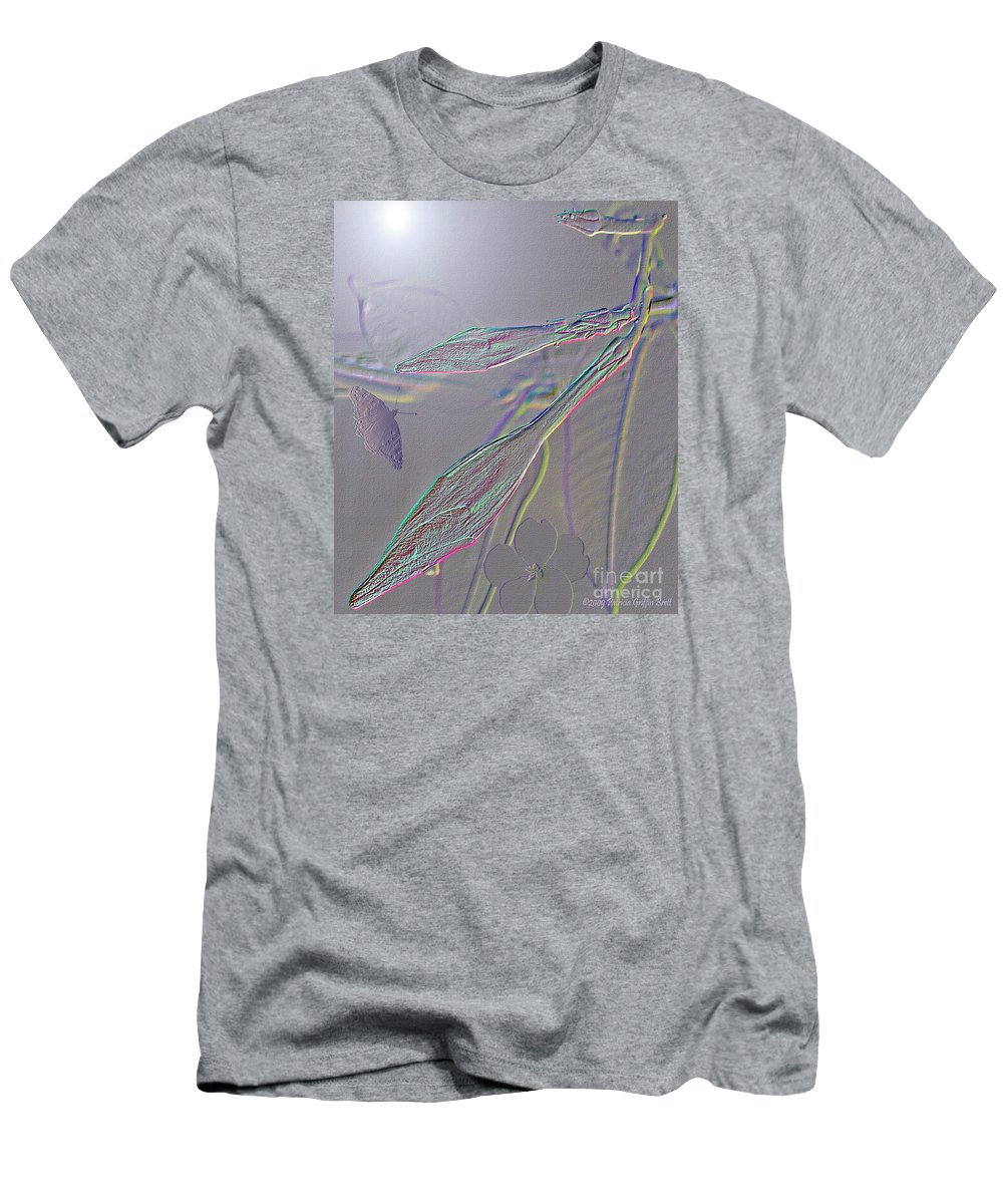 Mixed Media Art Men's T-Shirt (Athletic Fit) featuring the photograph Emergence by Patricia Griffin Brett