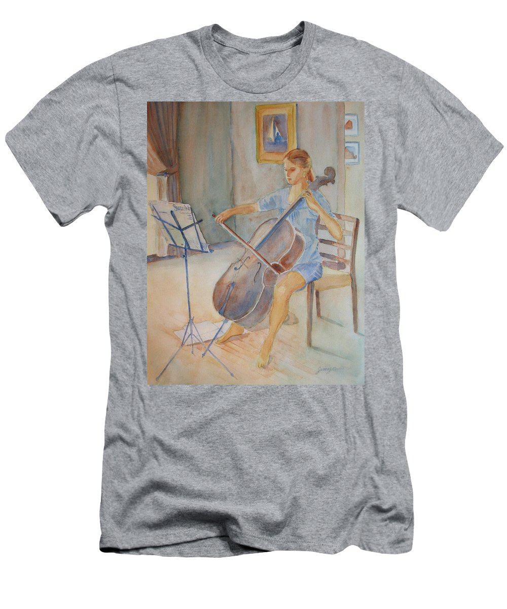Girls Men's T-Shirt (Athletic Fit) featuring the painting Emma And Clifford by Jenny Armitage