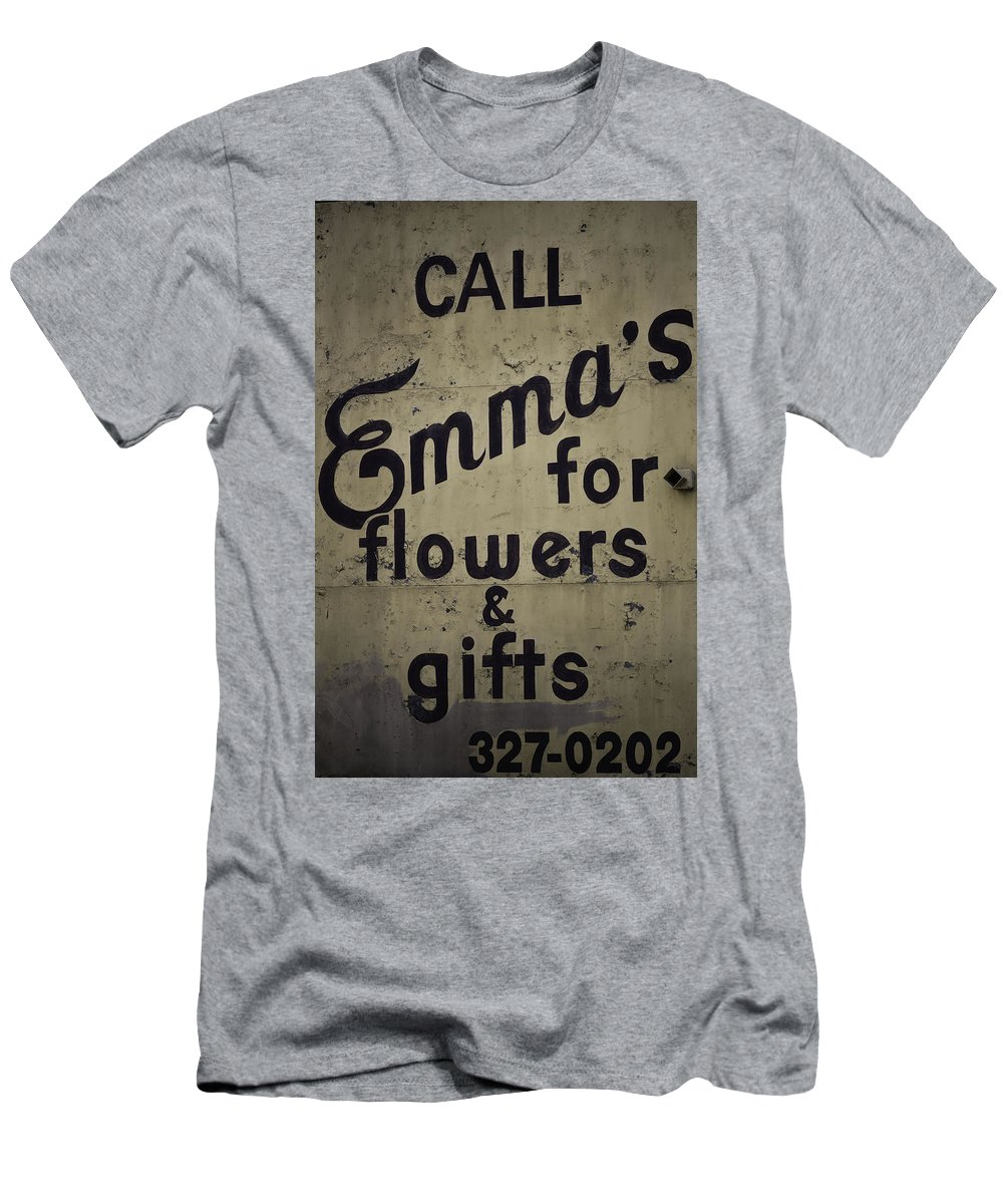 Sign Men's T-Shirt (Athletic Fit) featuring the photograph Emma's by Kelly E Schultz