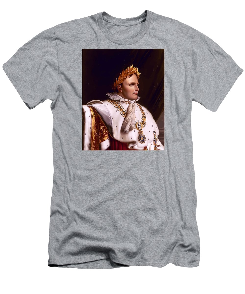 Napoleon Men's T-Shirt (Athletic Fit) featuring the painting Emperor Napoleon Bonaparte by War Is Hell Store