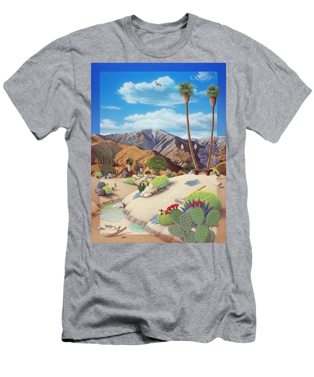 Desert Men's T-Shirt (Athletic Fit) featuring the painting Enchanted Desert by Snake Jagger