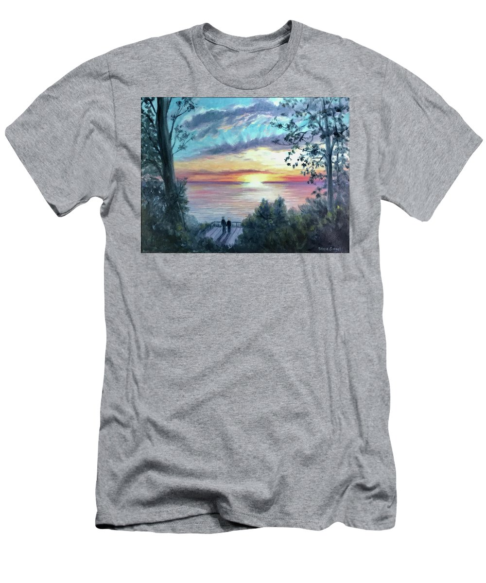 Sentimental Men's T-Shirt (Athletic Fit) featuring the painting Endless Love by David Siegel