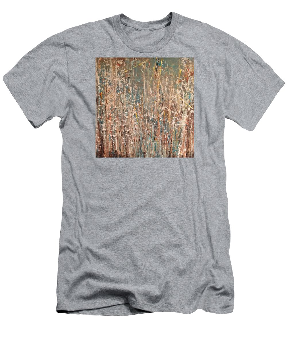 Abstract Men's T-Shirt (Athletic Fit) featuring the painting Energy by Debra Wronzberg