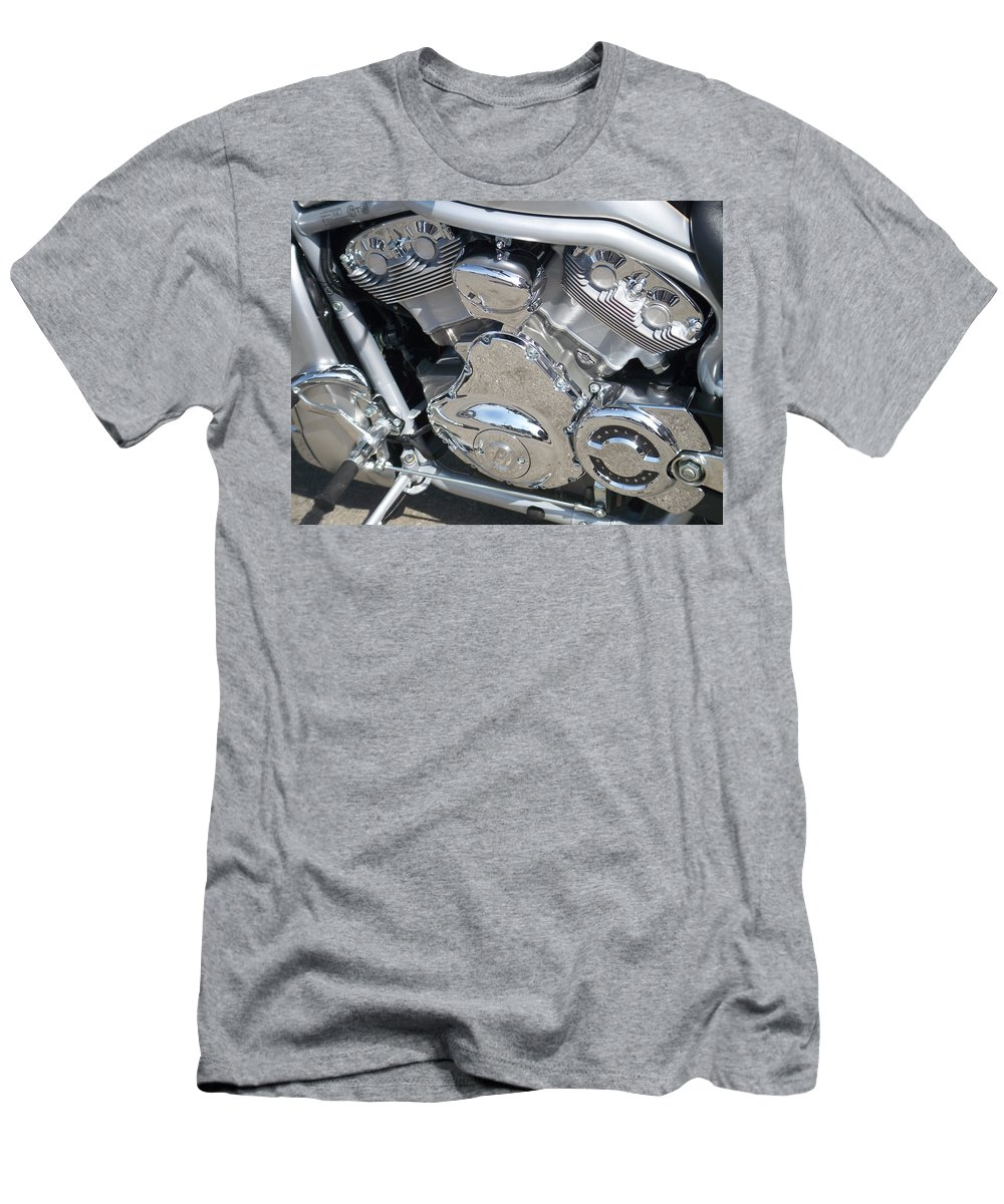 Motorcycle Men's T-Shirt (Athletic Fit) featuring the photograph Engine Close-up 2 by Anita Burgermeister