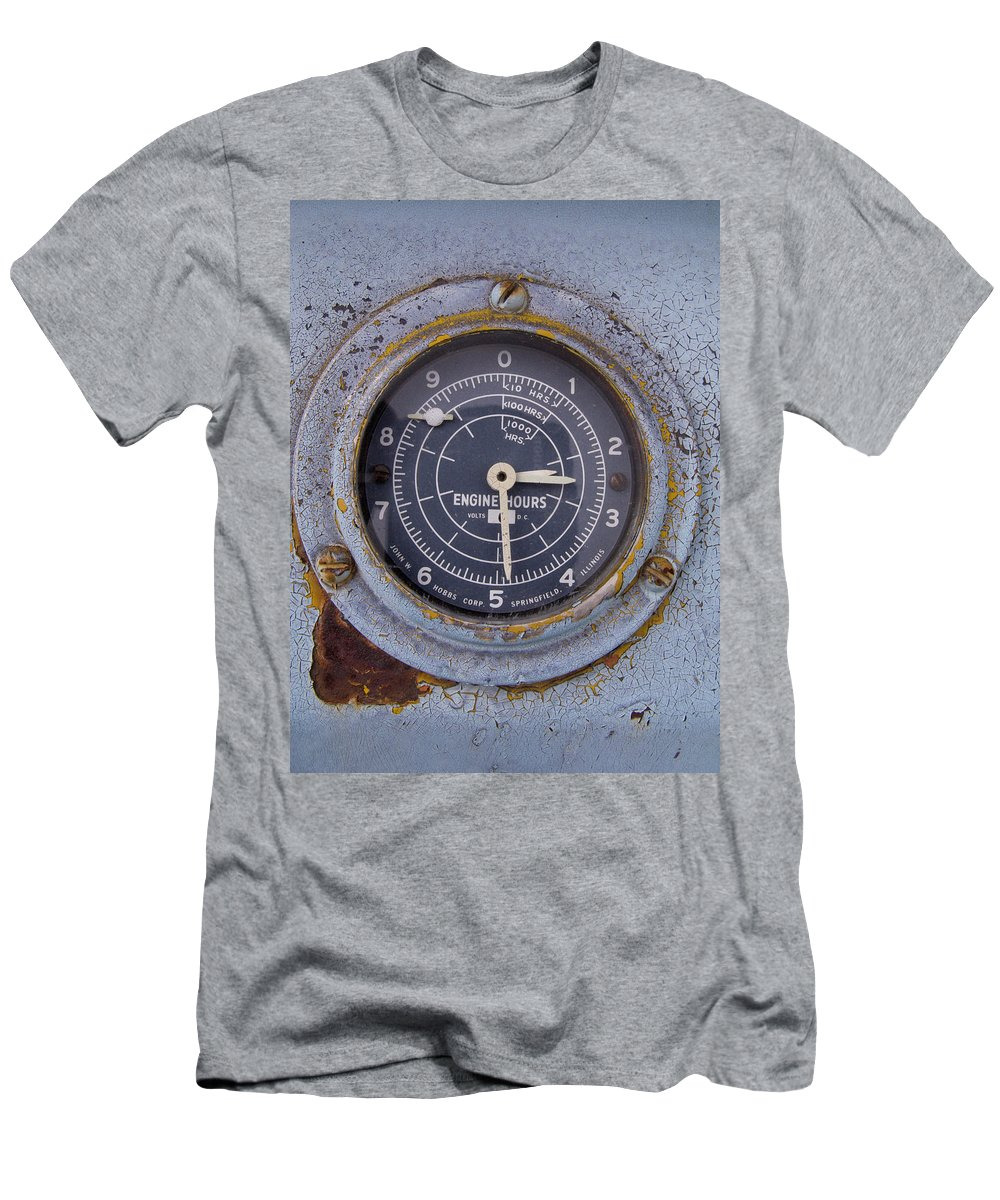 Gauge Men's T-Shirt (Athletic Fit) featuring the photograph Engine Hours by Jeffery Ball