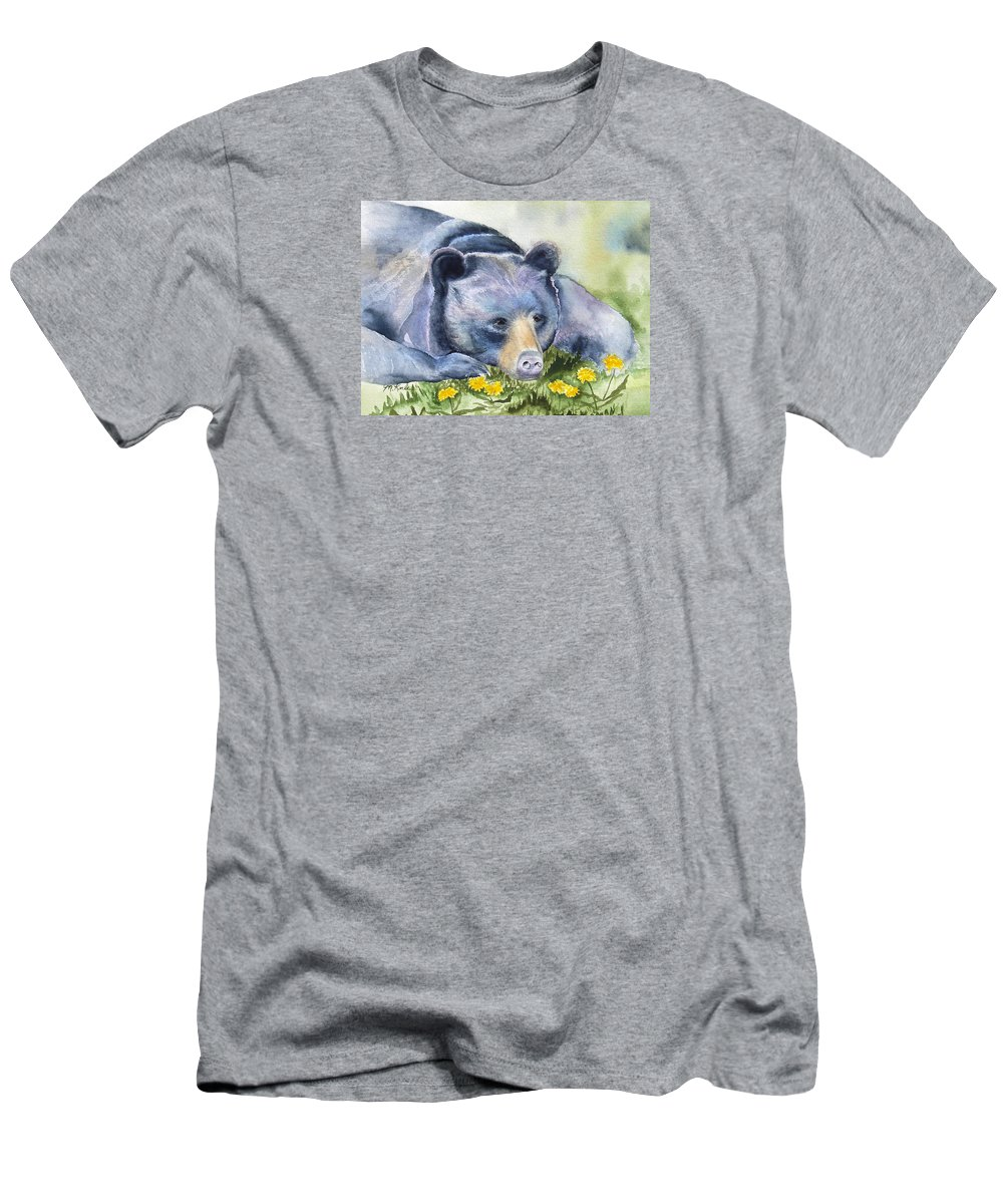 Bear Men's T-Shirt (Athletic Fit) featuring the painting Ennui by Marsha Karle