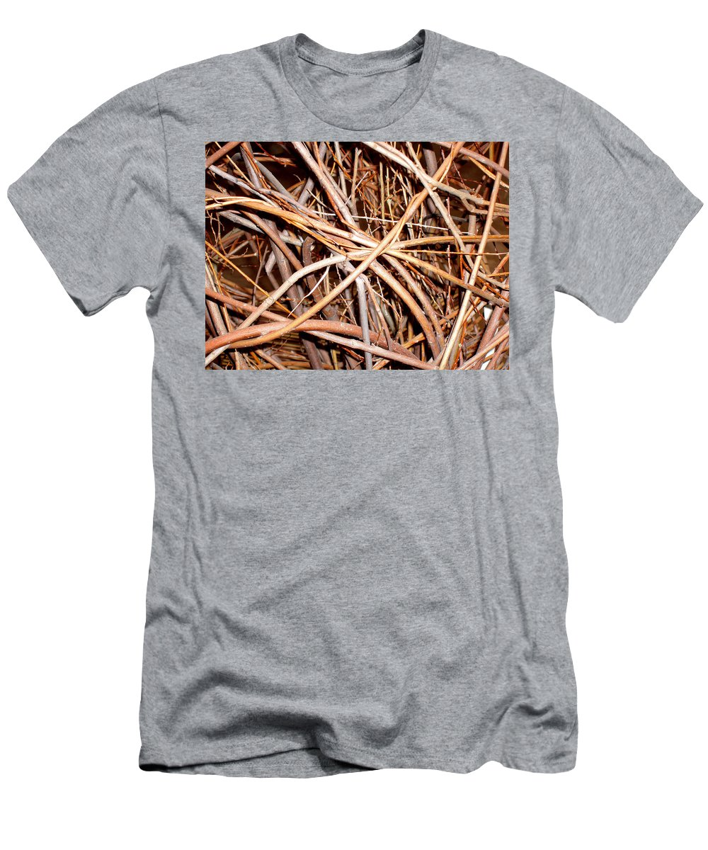 Vines Men's T-Shirt (Athletic Fit) featuring the photograph Entangled by Wayne Potrafka